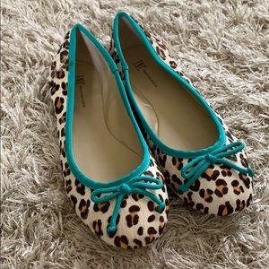 Ladies' INC Leopard Print Ballerina Flats - Sz 7M